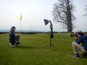 Albane Valenzuela lors de son shooting photo au Club Golf de Genève.
