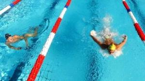 Le nageur de Team Genève, Nils Liess lors de son entraînement à Tenero!