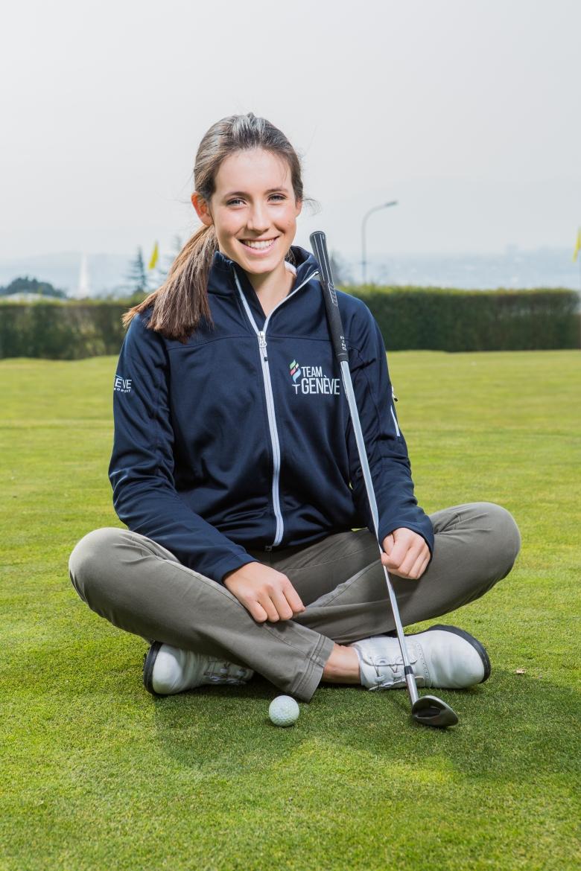 La jeune golfeuse de Team Genève, Albane Valenzuela,