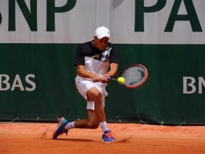 Le tennisman de Team Genève, Johan Nikles lors du tournoi junior de Roland Garros 2015 Une compétition prestigieuse pour le jeune genevois.