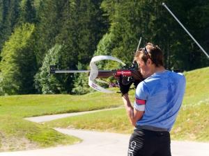 Jérémy Finello lors de son entraînement estival à Prémanon (FRA)